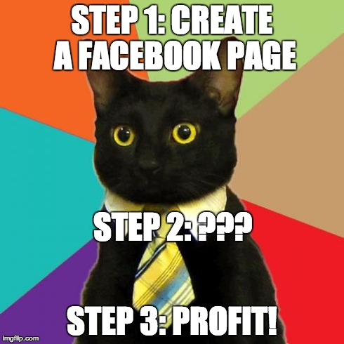 business cat on facebook marketing
