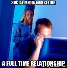 social media is like marriage